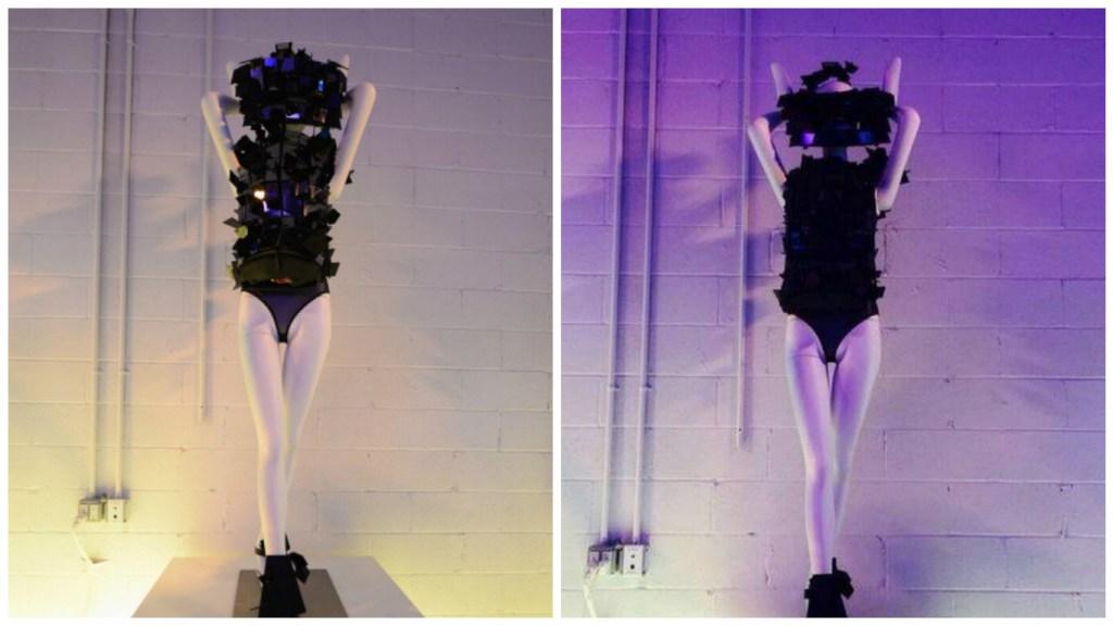 ArtRave TechHaus Exhibition piece - The Cipher Dress [Image: TechHaus]