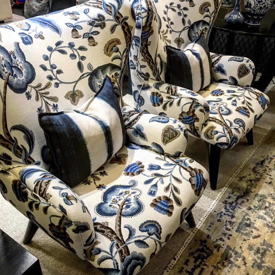 Upholstered chairs using classy cotton digital printed fabric [Image: Courtesy of Imaterial Textile Printers]