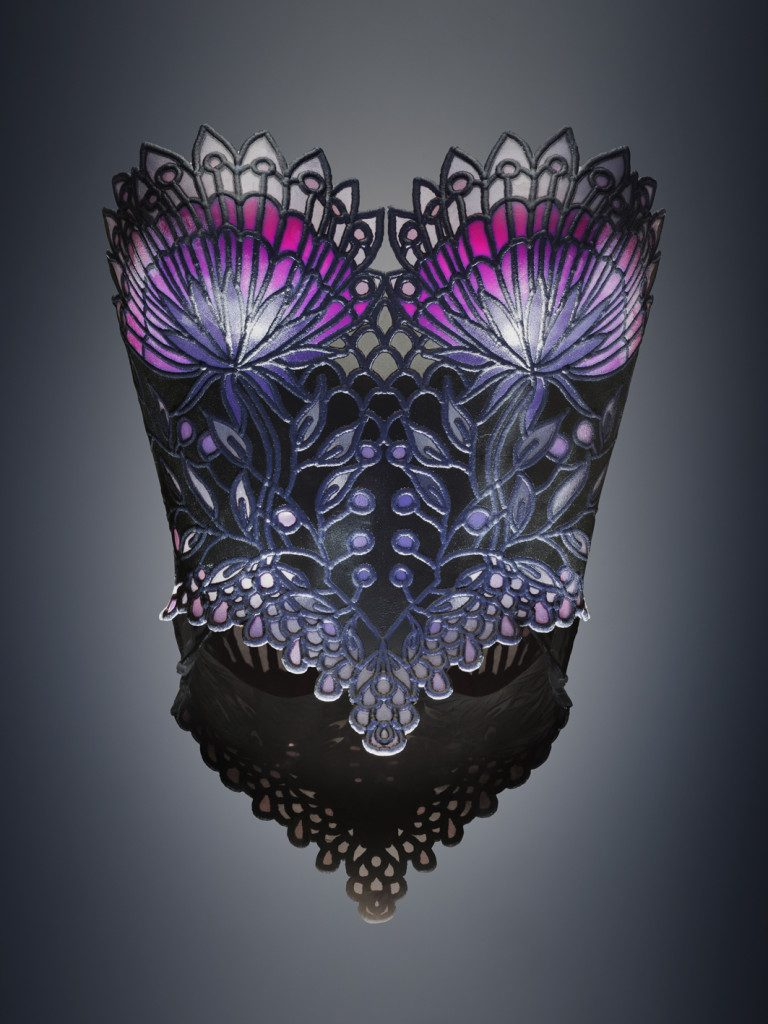 3D printed Stained Glass Corset by Michaella Janse van Vuuren [Image: Yoram Reshef]