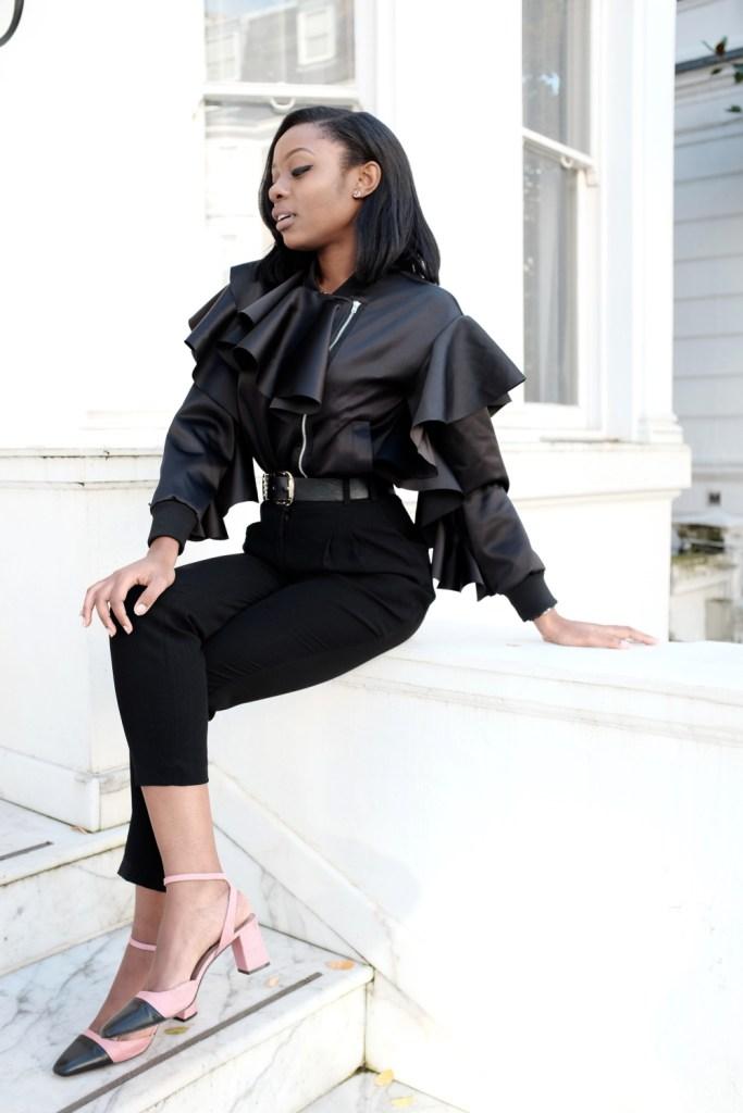 her take on a bomber jacket Image Katy Dyomina