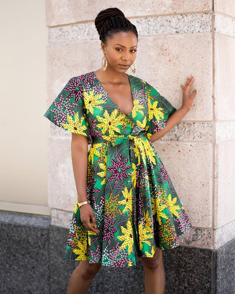 Kahaari Masolai Wrap Around Midi Dress