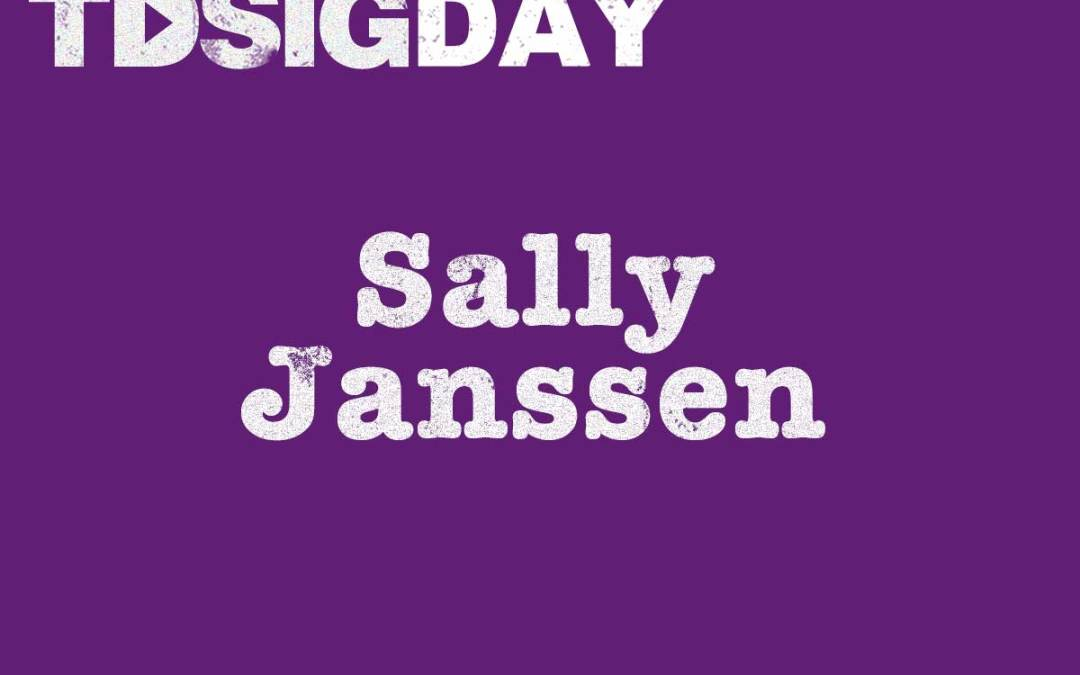 SIG Day speakers – Sally Janssen