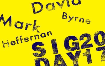 Our SIG Day speakers – David Byrne and Mark Heffernan