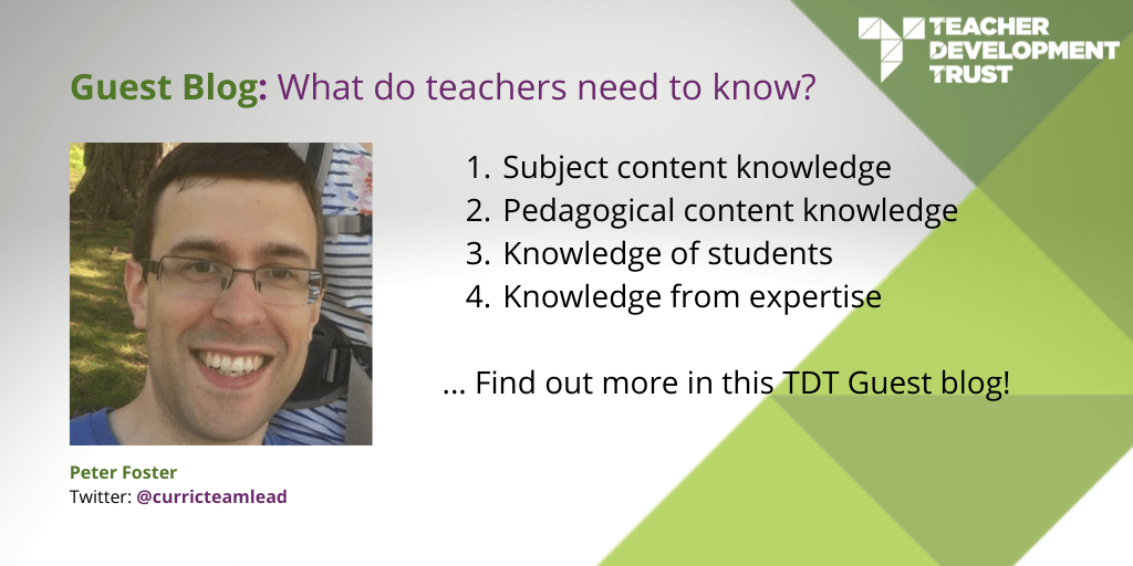 What do teachers need to know?