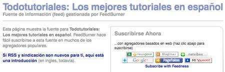 feeds de FeedBurner