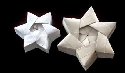 Papiroflexia: cajas en forma de estrella