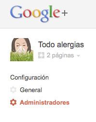 Administradores en Google+
