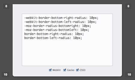 Bordes inferiores redondeados en CSS
