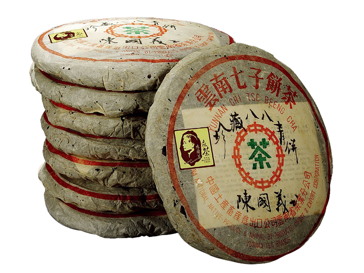 A stack of valuable aged Pu'er Bing Cha