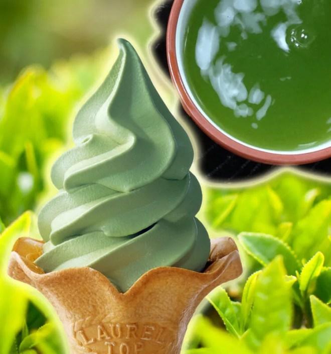 お茶の山麓園特製 新茶ソフトクリーム
