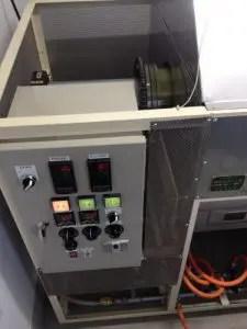 火入れ機の操作パネル