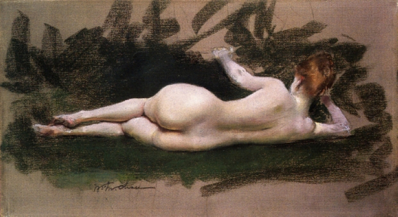 reclining nude move forward