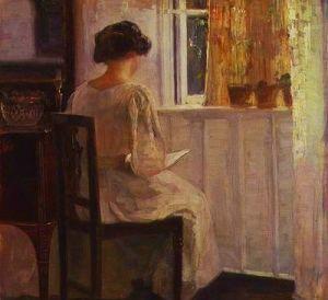 victorian woman reading