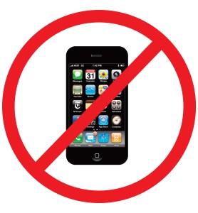 "No ""Smart""phones allowed"
