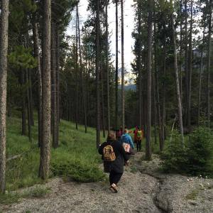art walk, sketching, nature, creative pathway, banff