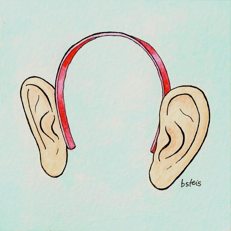 listening ears, humor, humour, ears, illustration, bsteis, political