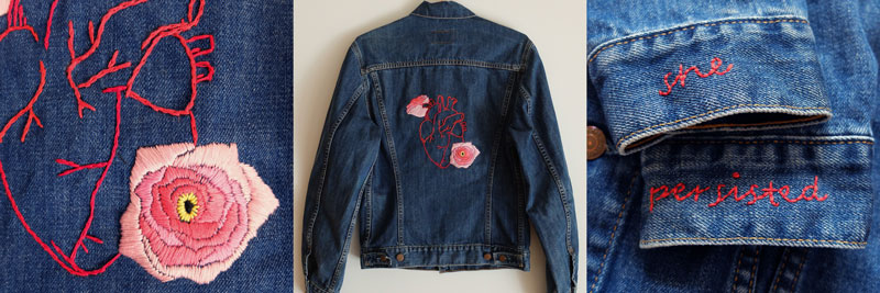 broken heart, embroidery, Jam, get lost clothing, needlework