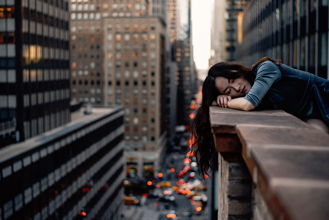 woman, sleep, time rich, city