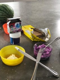 lunch box, pencils, wafers, cookies, back to school
