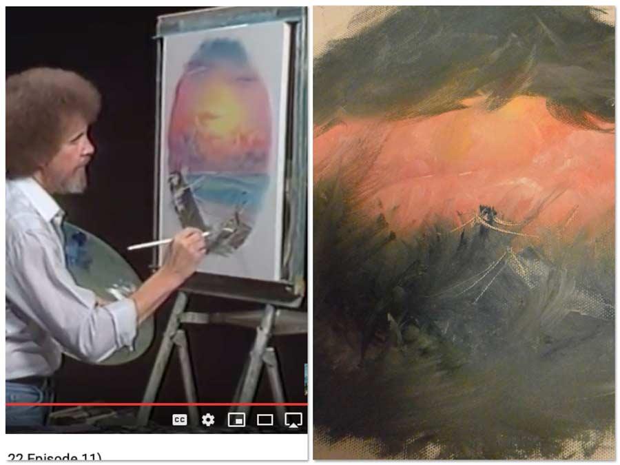 paint, painting, art, art adjacent, Bob Ross, Joy of Painting