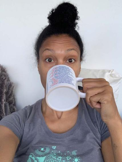 JoAnna, tea selfie, drink tea, lemon water
