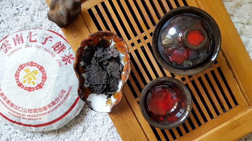 Пуэр CNNP желтая печать, китайская чайная церемония