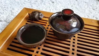 Шу Пуэр желтая печать, пиалы для чая, гайвань ручной работы