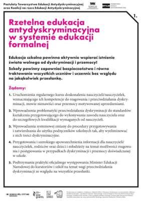 Tablice rzecznicze Koalicji na rzecz Edukacji Antydyskryminacyjnej
