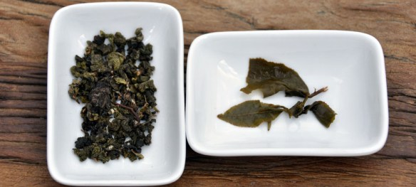TieGUanYin Leaves - Before and After