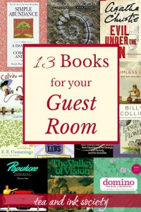 Give your house guests the gift of a good read during their stay! Here are 13 books that are perfect for your guest room. Many of these double as coffee table books, too! #guestroom #booklist