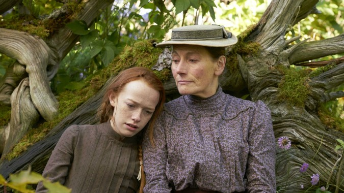 Amybeth McNulty and Geraldine James in Netflix's Anne with an E.