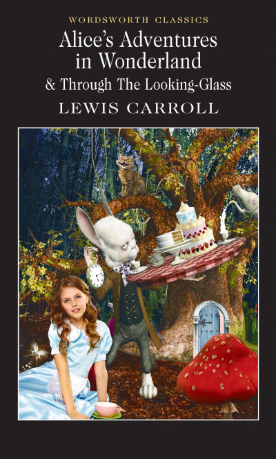 Ugly book art for Alice in Wonderland