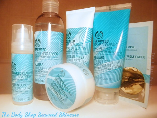 The Body Shop Seaweed Cleanser Line