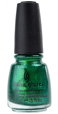 China Glaze Green Nail Polish Running in Circles