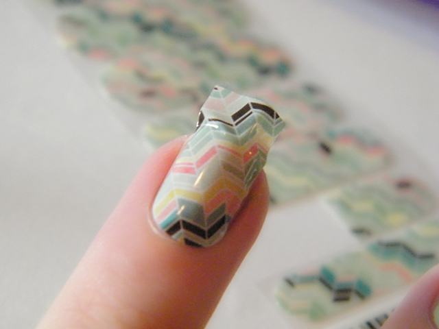 Jamberry Nail Wraps Gelato Application Review Canada