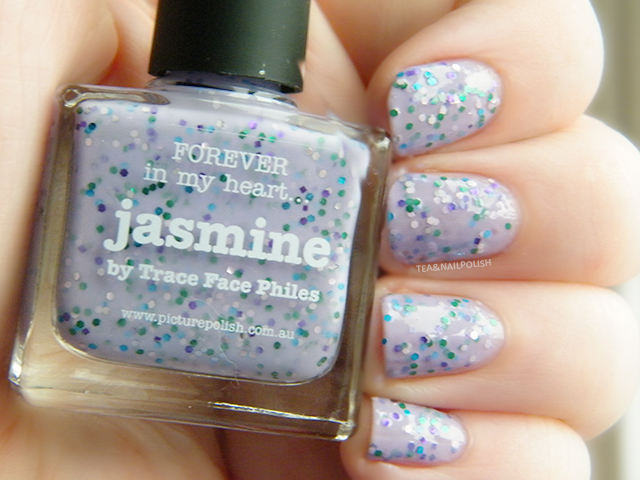 Picture Polish Jasmine Trace Face Philes Swatch Canada Tea & Nail Polish