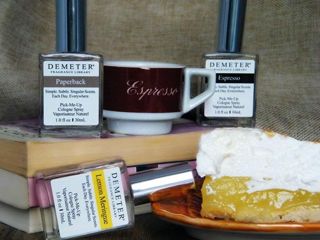 Demeter Custom Blend CBBScentMemory Blog Paperback Espresso Lemon Meringue