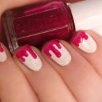 Essie Silk Watercolors Bloody Nails Nailart