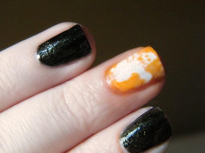 Ghost Nails Reverse Stamping Nail Art #CBBOctNails
