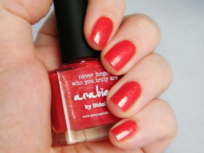 Picture Polish Arabian Swatch Canada NPC Red Polish