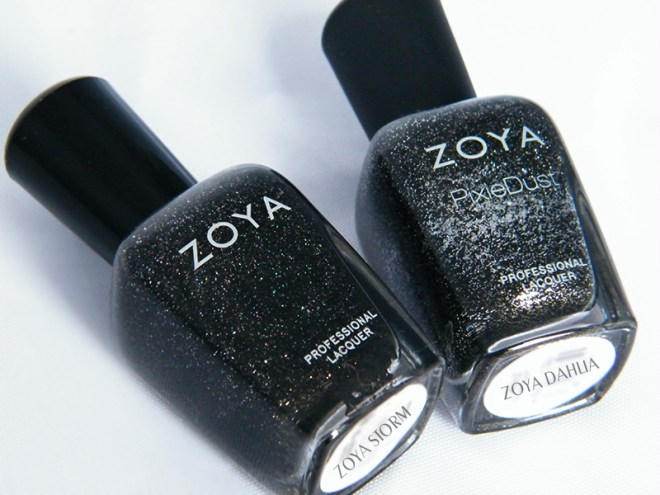 Zoya Storm Dahlia Wearable Black Nail Polish CBBOCtNails Day 1
