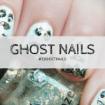 Ghost Nail Art #CBBOctNails