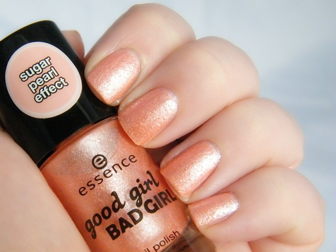 Essence Good Girls Wear Peach Swatch Essence Good Girl Bad Girl  Collection