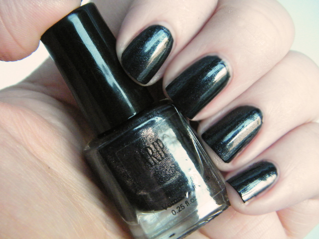 Mariposa Nail Polish Foils Dollarama Black Polish Swatch