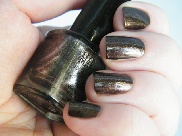 Mariposa Nail Polish Foils Dollarama Brown Polish Swatch Sunlightt
