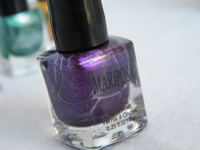 Mariposa Nail Polish Foils Dollarama Purple Polish Bottle
