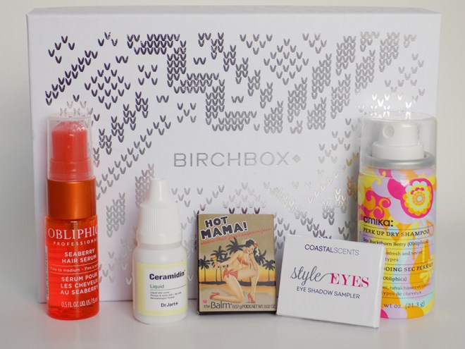Birchbox December 2015 All products