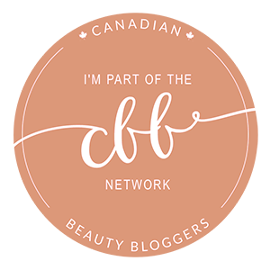 I am a member of the Canadian Beauty Bloggers Network
