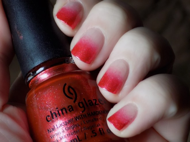 China Glaze Elfin Around Gradient Nails