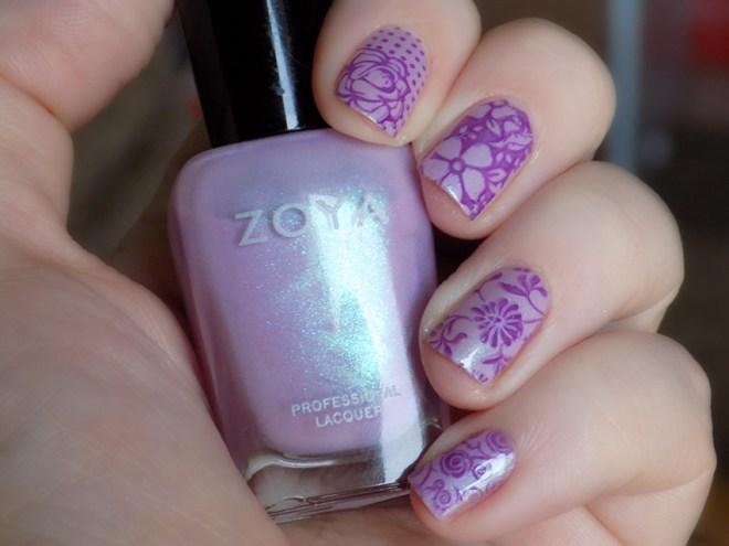 Zoya Leslie Mira Floral Nail Art